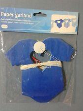 FESTONE NASCITA GHIRLANDA BODY BIMBO BLU IN CARTA 6 METRI x16 cm FESTA BATTESIMO