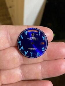 Custom Rolex Day Date Dial 218238 Blue Arabic Stunning.