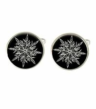 Snowflake Ice Mens Cufflinks Ideal Wedding Birthday Or Fathers Day Gift C531