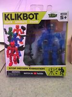 New! Blue Klikbot Animation Action Figure Monster New Line Helix Zing