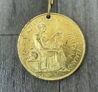 Authentic Antique Coronation George VI Elizabeth 1937 Gold Tone Empire Medal