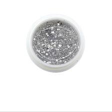 Nail Art Shimmer Powder Glitter Dust For UV Gel Acrylic Tips Decor Silver MK044