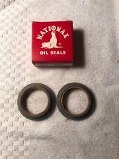 2 NOS National 7022 Front Wheel Seals 1957 58 59 60 Rambler 6 V8 Rebel American