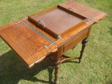 Victorian Oak folding inset games table (The Eclipse)