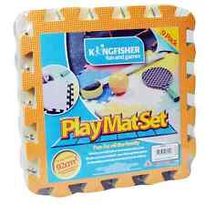 Childrens 9 Piece Multi Coloured Play Mats, Indoor Outdoor 29cm x 29cm PLAYM