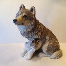 Sandicast Wolf Gray & Pup K550 Figurine