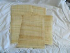 "5 Egyptian Plain Papyrus Papers for Painting 13""X17"""