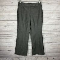 Ann Taylor Womens Curvy Fit Dress Pants Size 8 Gray Just Below the Waist