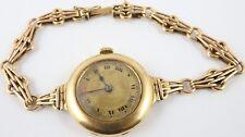 Reloj pulsera Antiguo ruso/Swiss 14 CT dorado de señora y pulsera. en Funcionamiento