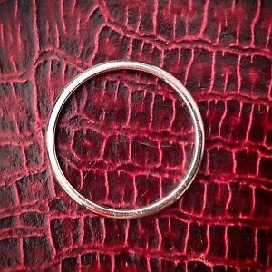 TIFFANY & CO PLATINUM WEDDING STACK BAND RING