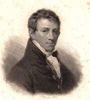 Portrait XIXe Humphry Davy Penzance Physique Chimie Gaz Hilarant Chlorine