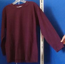 EUC Couture VITTADINI SPORT Knit TOP Plum Long Sleeve Sz S 100% Cotton