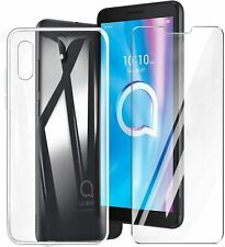 Cover Case Clear + Film Tempered Glass For Alcatel 1B 2020
