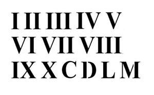 Roman Numerals Stencil, A4/A5/A6