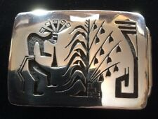 Vintage Sterling Silver Belt Buckle Made By Hopi Artist Kevin Takala
