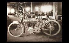 Vintage Harley Davidson Motorcycle Factory PHOTO Shop Mechanic Bike Garage