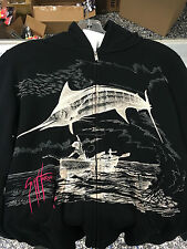 Women's Aftco Marlin Go Over Black Hoodie S, M, L, XL