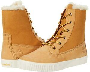 Timberland Classic Skyla Bay Fleece Fold-Down Wheat Nubuck Boots for Women