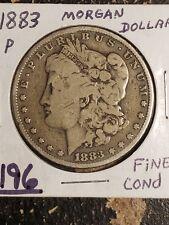 1883 P $1 Morgan Silver Dollar FINE Condition