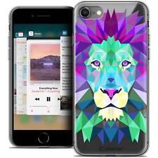 """Coque Housse Etui Pour iPhone 8 (4.7"""") Polygon Animal Souple Fin Lion"""