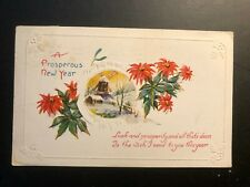 "Antique ""Happy New Year "" 1924 Embossed Postcard"