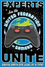 UNITED FEDERATION OF GAMERS ~ 24x36 VIDEO GAME POSTER Experts Join Level