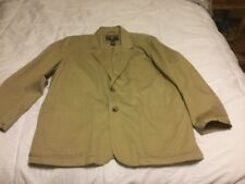 Duluth Trading Co. Mens Tradesman Jacket Blazer Size XL Khaki Tan Jacket Blazer