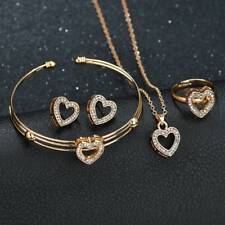Women Girls Kids XMAS Jewelry Set Gift Necklace Bracelet & Earrings gold ring UK