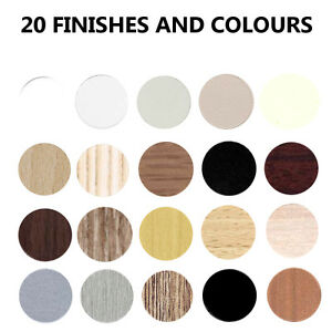 FULL SHEET Self adhesive decorative screw cover caps - 20 colours - 14mm or 20mm