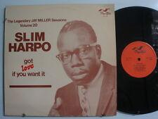 SLIM HARPO Got Love If You.. JAY MILLER Sessions Vol. 20 IMP. LP U.K. FLYRIGHT
