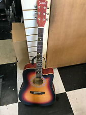 glarry acoustic guitar with a cutaway in sunburst
