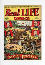 REAL LIFE COMICS #19  HIGHER GRADE - FANTASTIC ALEX SCHOMBURG JAPANESE WAR COVER