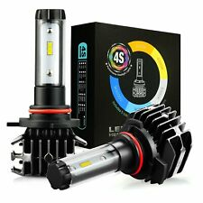 JDM ASTAR 2x 4S High Power 9012 LED Headlight Bulbs High Low Beam Fog Kit 6500K