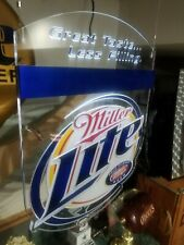 "Miller Light Acrylic Led Sign 20""x16&# 00006000 034; Hanging Style Bar Lite ""Nos"" 2007"