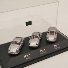 Herpa 1:87 SoMo 3er Set Porsche 911 (1964,993 und 996) in PC-Box o. EK6386