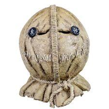 Trick R Treat Sam Burlap Jack-o-Lantern Full Head Halloween Costume Mask