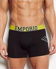 EMPORIO ARMANI Eagle Stretch Coton Homme Boxer Brief Sous-Vêtements Noir/Jaune L