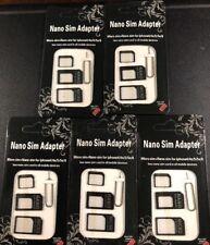 5 Nano Sim Adapter /Micro Sim+Nano Sim For Iphone And all Mobile devices