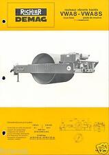 ▬►Prospectus de 1969 RICHIER DEMAG ROULEAU VIBRANT TRACTÉ VWA 8 et 8S NO POCLAIN