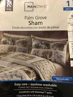 Mainstays Palm Grove Pillow Sham King Size New With Packaging Three Available