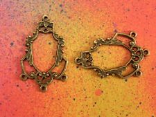 20 Chandelier Earring Connector Charms Bronze Color Charm Pendant Charms 1 to 3