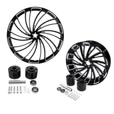 """30"""" Front Rear Wheel Rim Disc Hub Fit For Harley Touring Street Glide 2008-2021"""