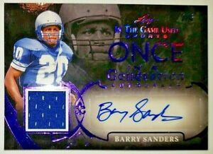 1996 seleccione Certificado Edición #33 Barry Sanders Detroit Lions Fútbol Tarjeta