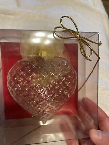 Pier 1 Collectible Heart Ornament, Mouth Blown Hand Crafted In Germany