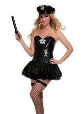 Starline Signature Black Cop Police Woman Sequin Sexy Womens Corset Costume L 12