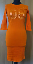 ladies ribbed embroidered bodycon 3/4 sleeve dress size 10 Voyelles BNWT