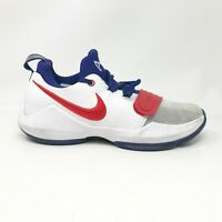 Nike Boys Grade School PG 1 880304-164 White Running Shoes Lace Up Size 5Y