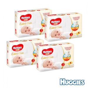 Confezione RIsparmio - Huggies EXTRA CARE BEBÈ – Pannolini Taglia 1 (2-5 Kg) ...
