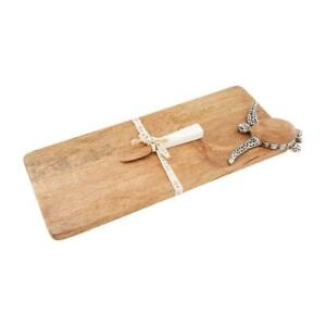 Mud Pie Home Wood Wooden Oblong Serving Board Tray with Sea Turtle