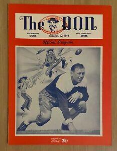 VINTAGE 1946 AAFC SAN FRANCISCO 49ERS @ LOS ANGELES DONS FOOTBALL PROGRAM NMT/MT